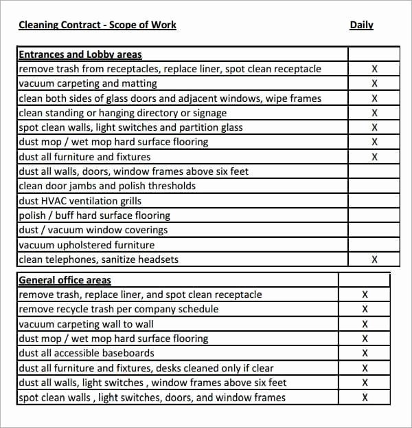 7 Construction Scope Of Work Templates Word Excel Pdf