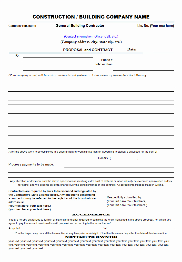 7 Contract Proposal Template
