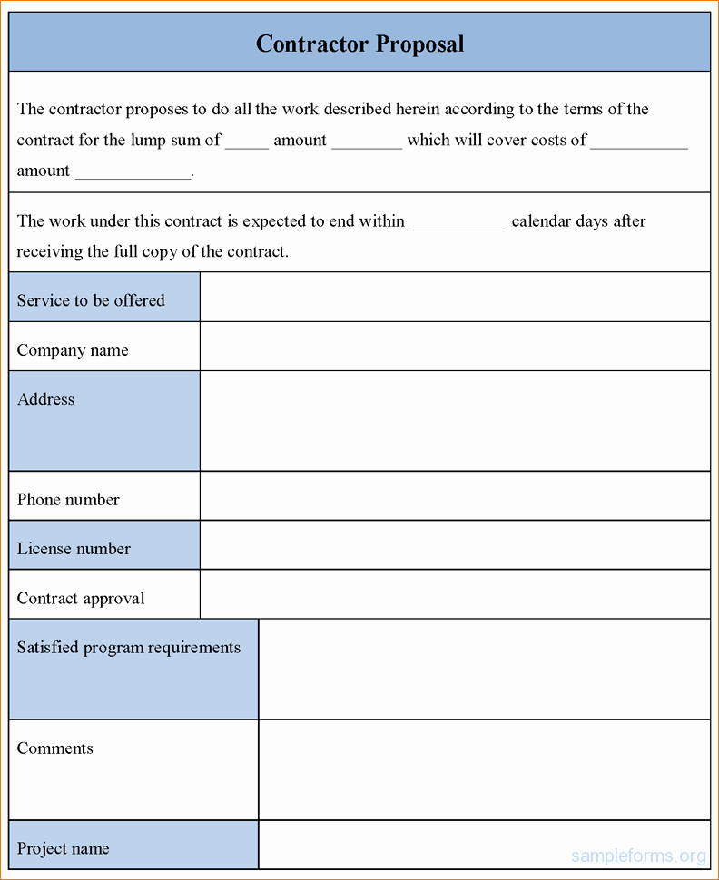 7 Contractor Proposal Template