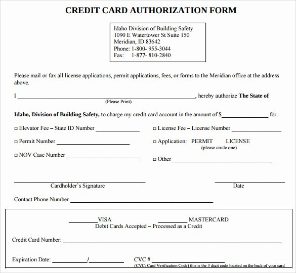 7 Credit Card Authorization forms to Download