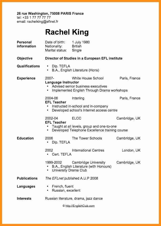 7 Curriculum Vitae Teacher Template