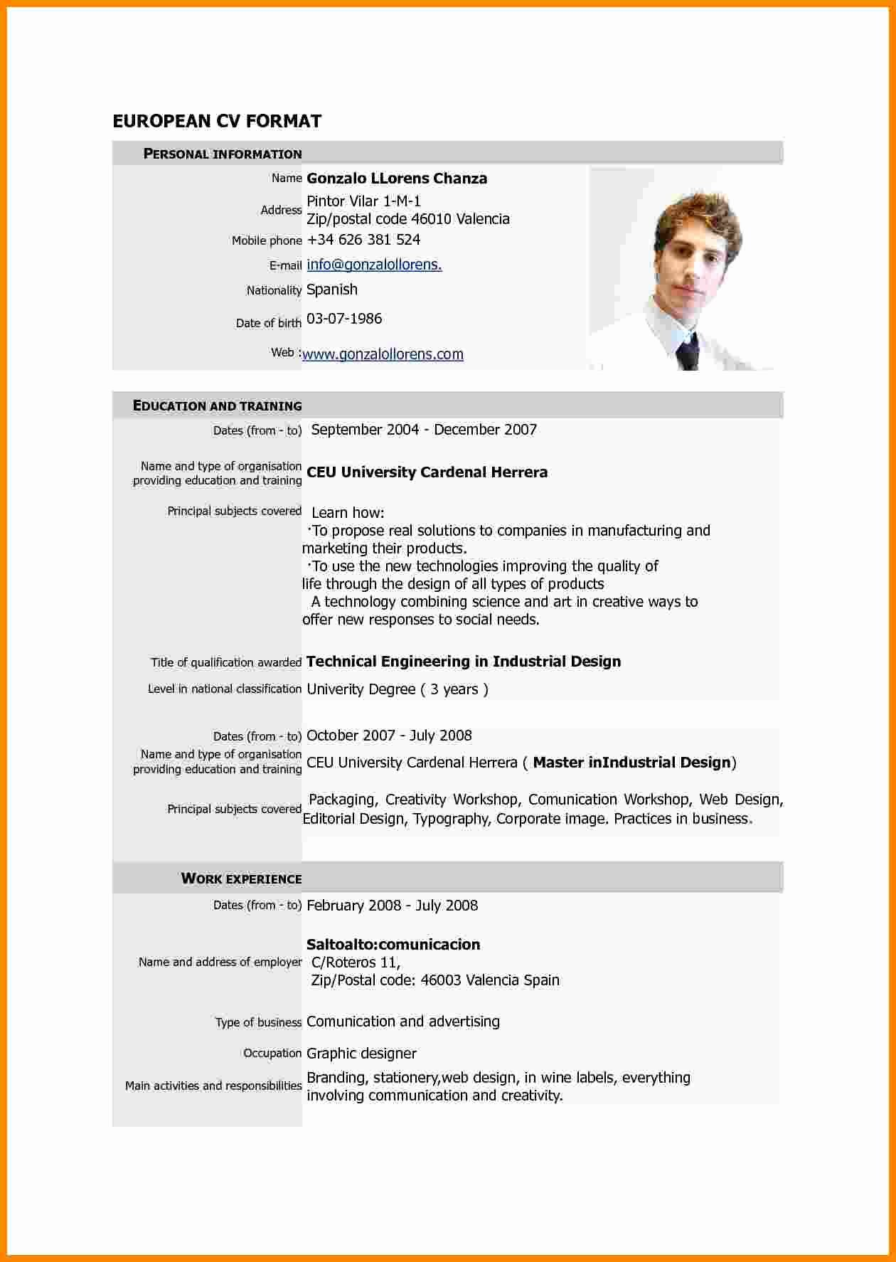7 Cv Resume Sample Pdf