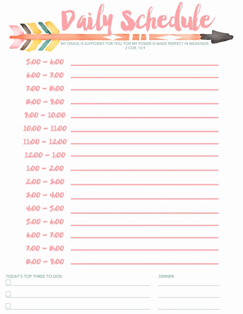 7 Daily Schedule Templates Excel Pdf formats