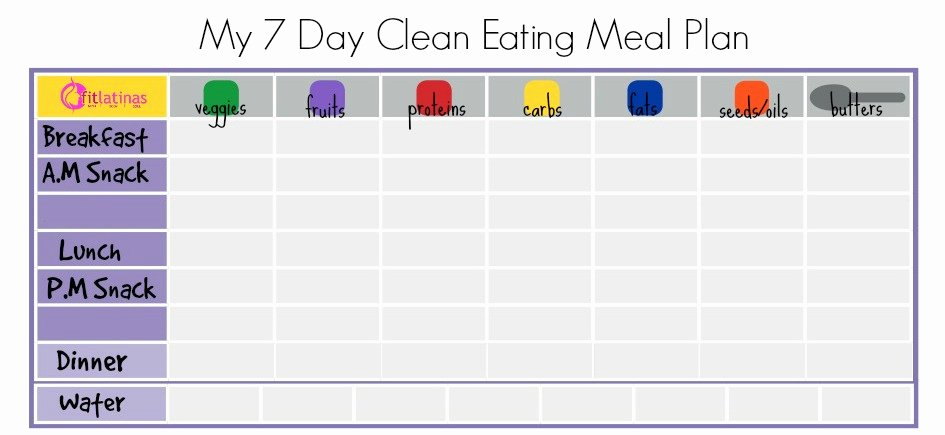 7 Day Meal Planner Template