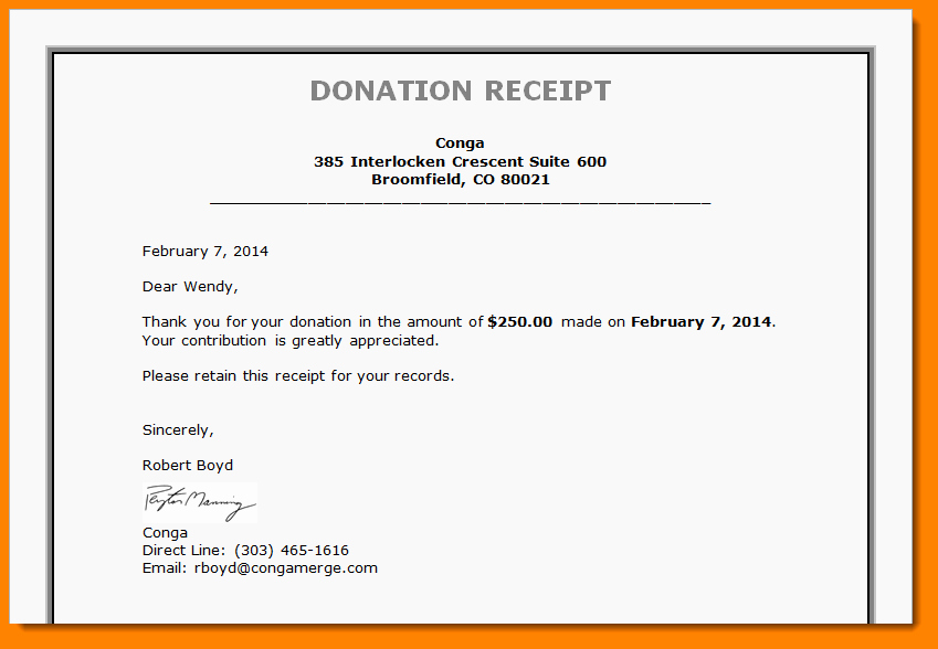 7 Donation Receipt Letter Template