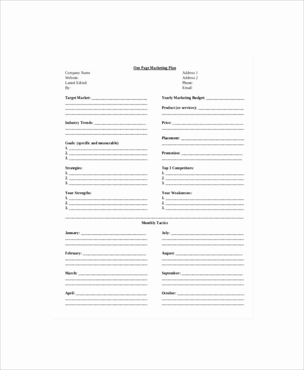 7 E Page Marketing Templates – Free Sample Example
