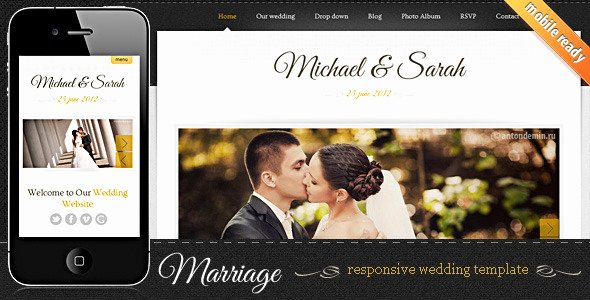 7 Elegant HTML Wedding Website Templates