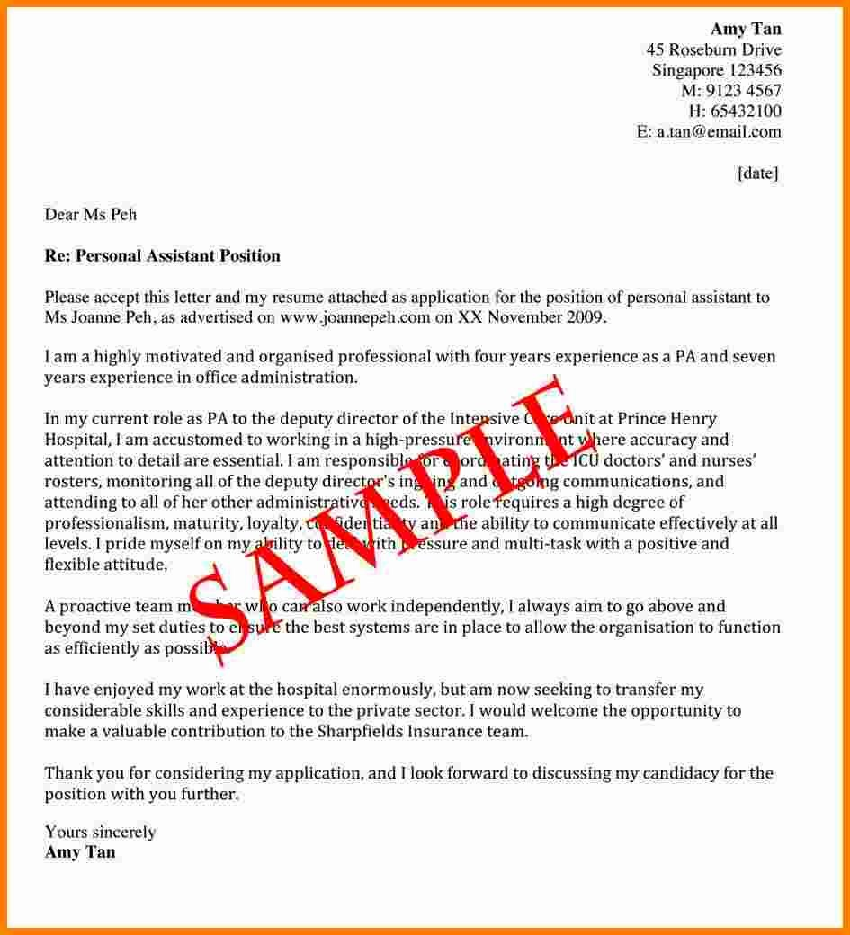 7 Email Covering Letter Template
