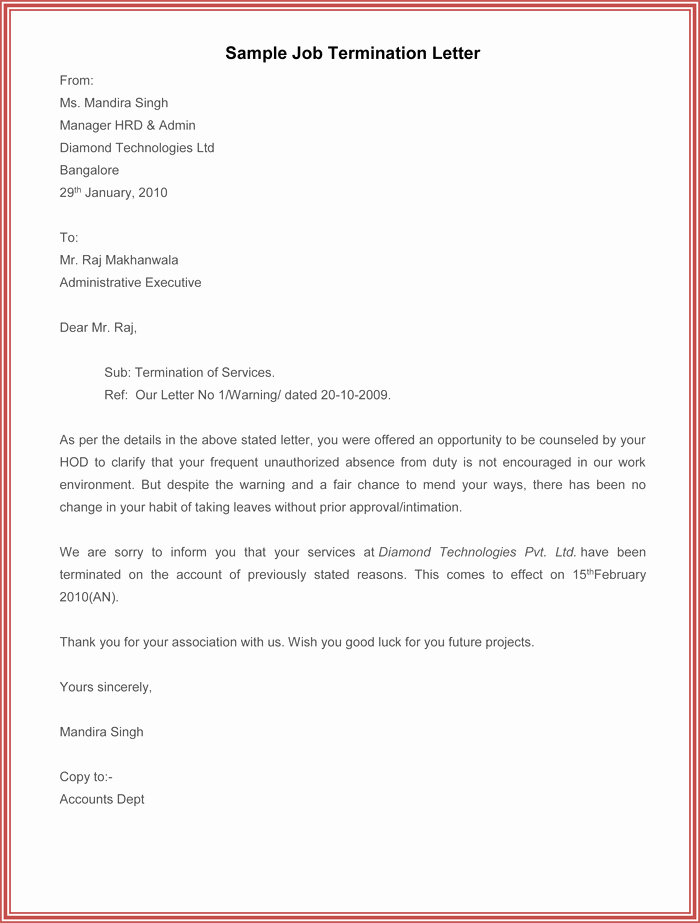 7 Employment Termination Letter Samples to Write A