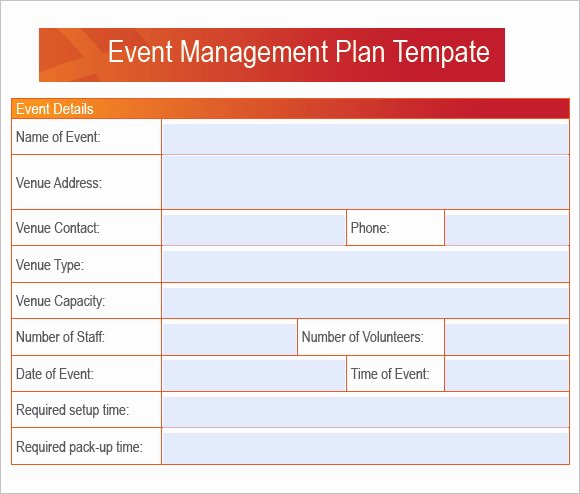 7 event Planning Samples