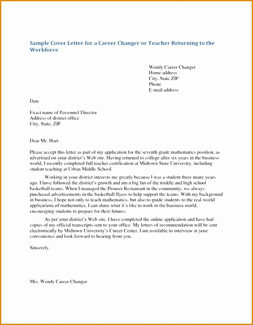 7 Example Of Application Letter for Teacher Pdf