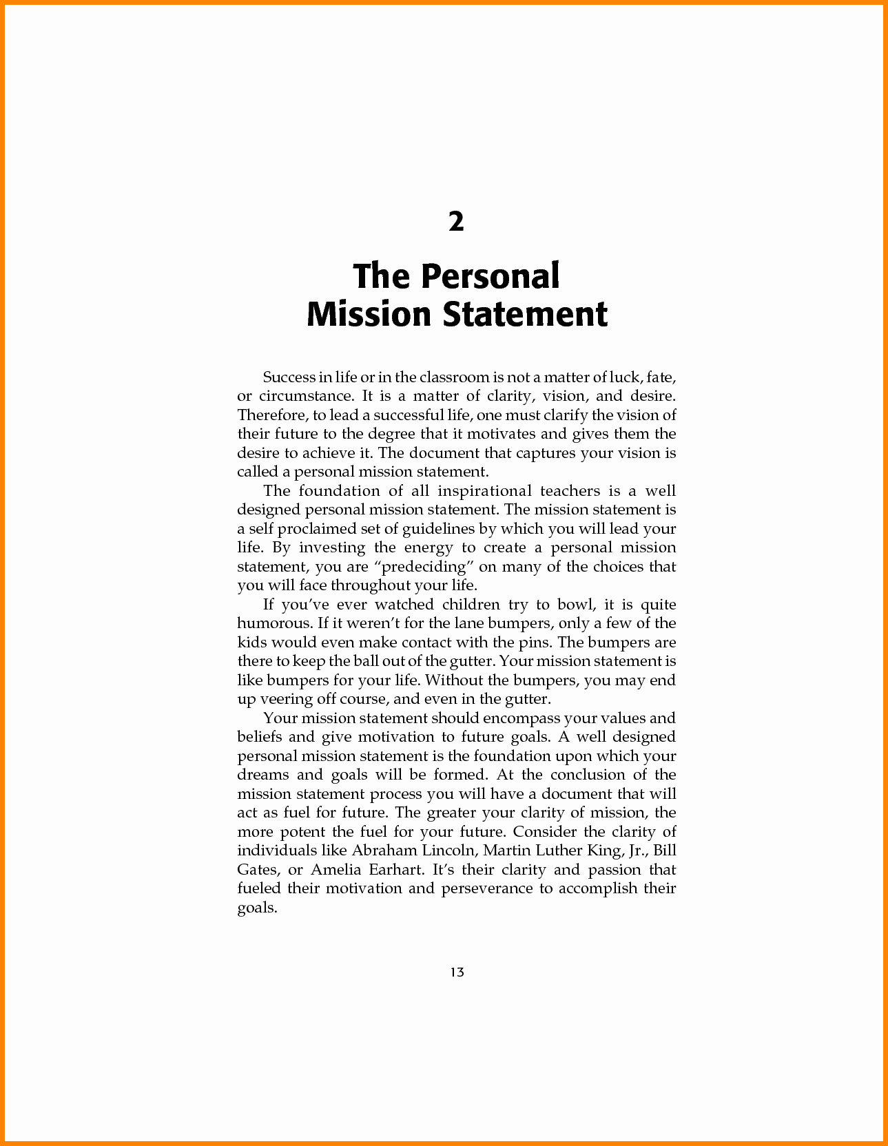 7 Examples Of Personal Mission Statement