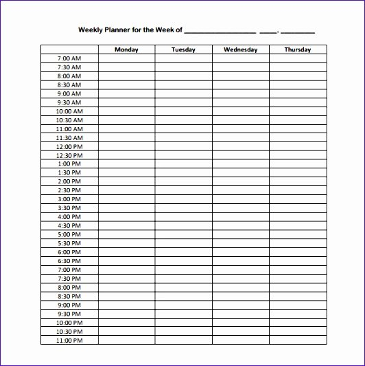 7 Excel 24 Hour Schedule Template Exceltemplates