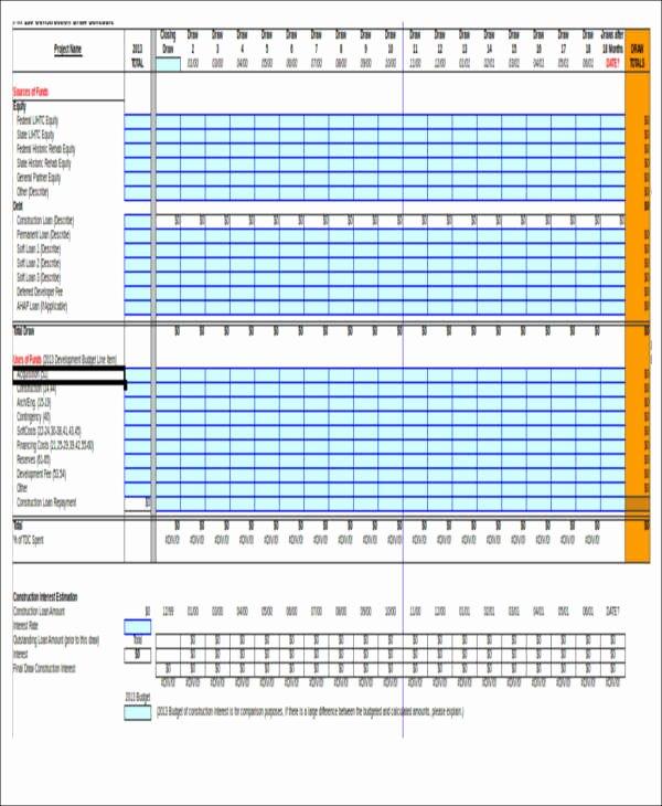 7 Excel Construction Schedule Templates
