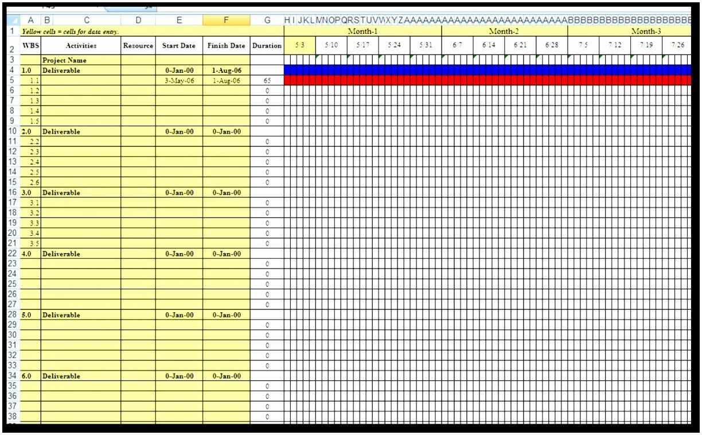7 Excel Gantt Chart Template 2012 Weari