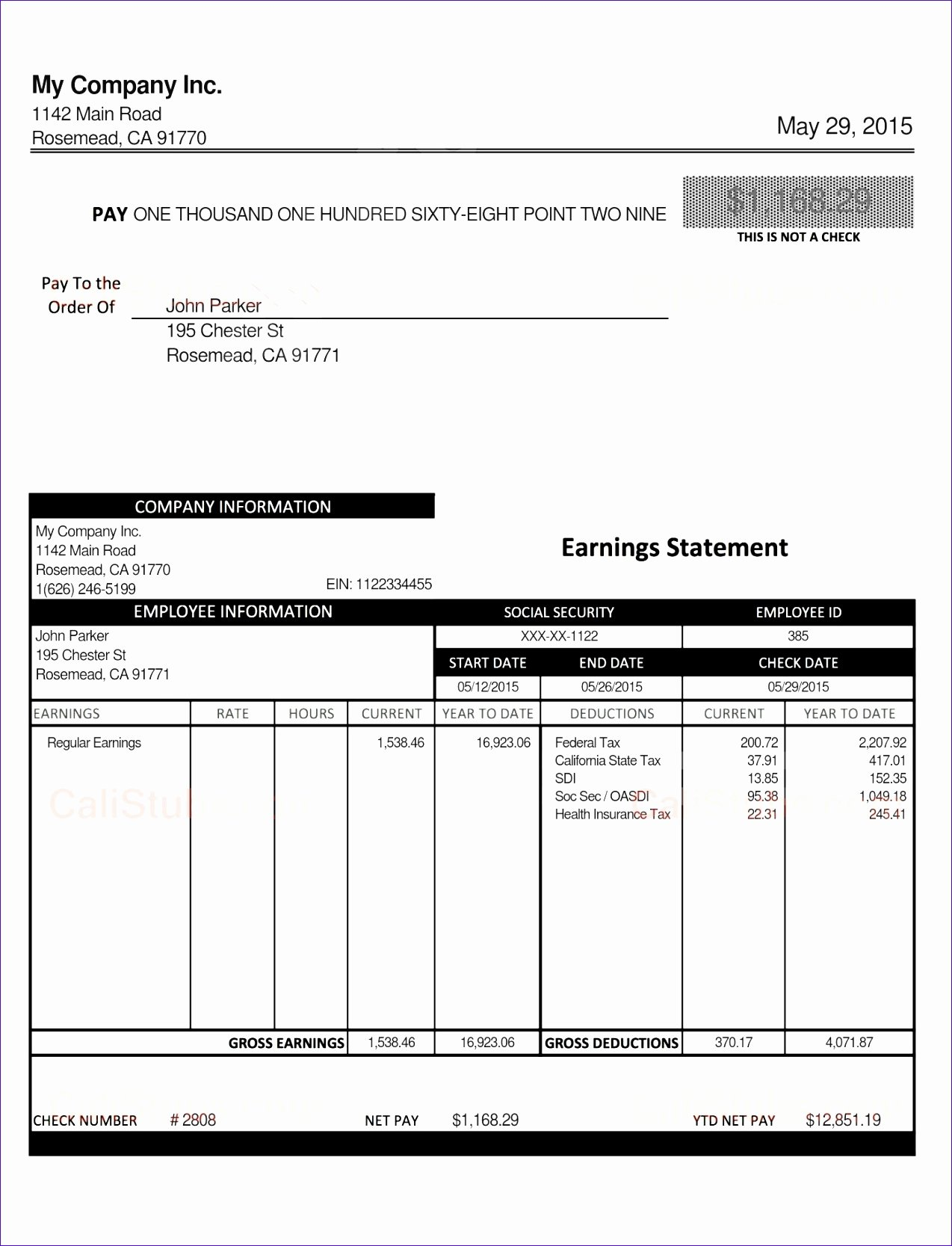7 Excel Paycheck Template Exceltemplates Exceltemplates