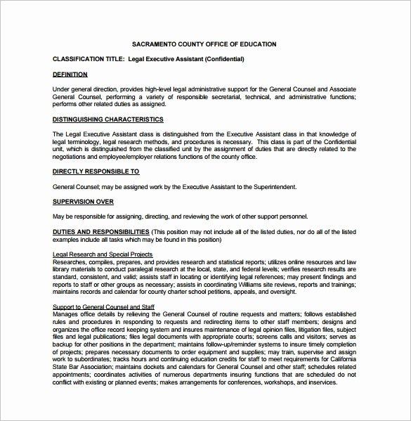 7 Executive assistant Job Description Templates
