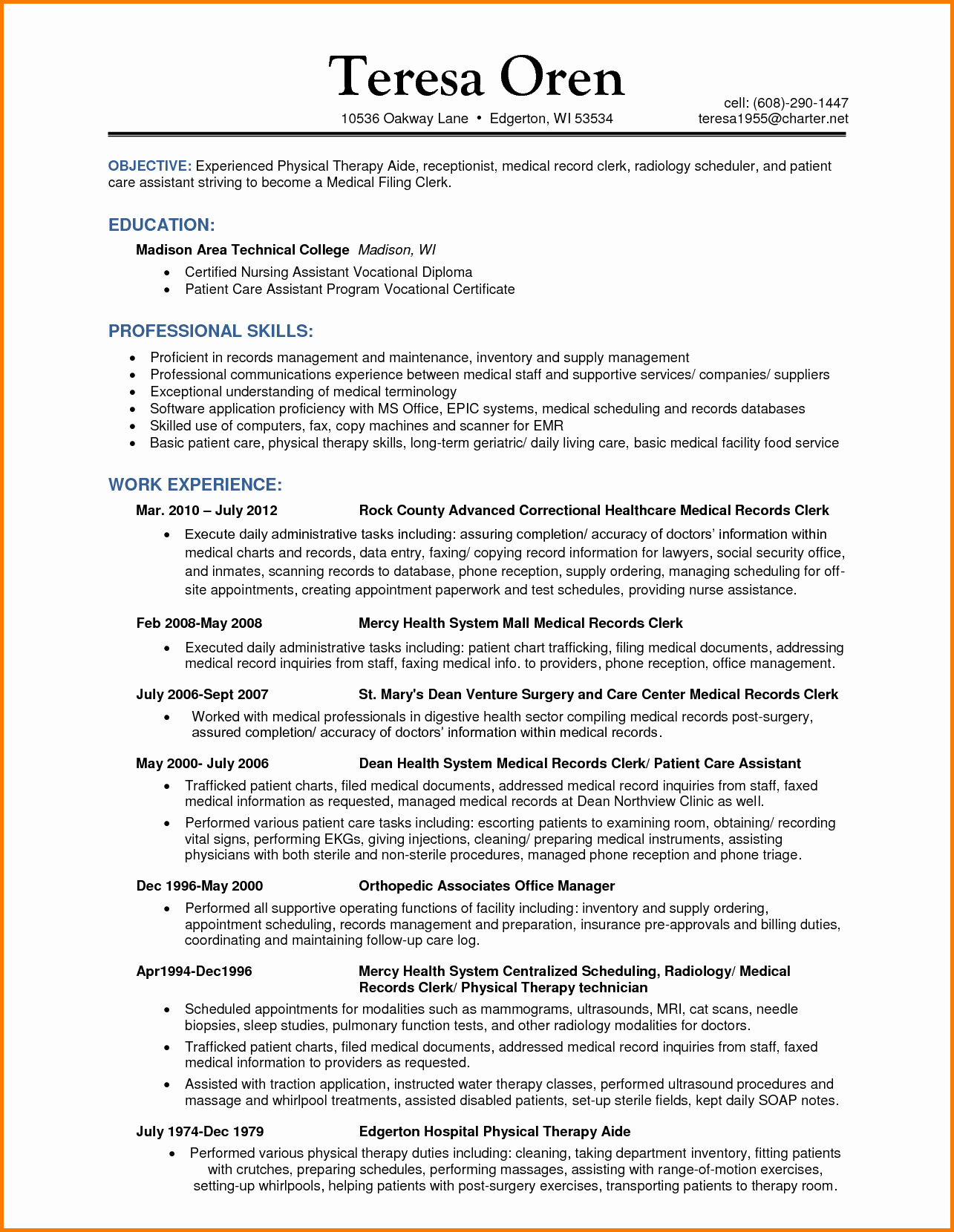 7 Experienced Medical Coder Resume
