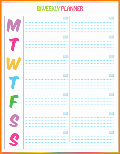 7 Family Weekly Calendar Template