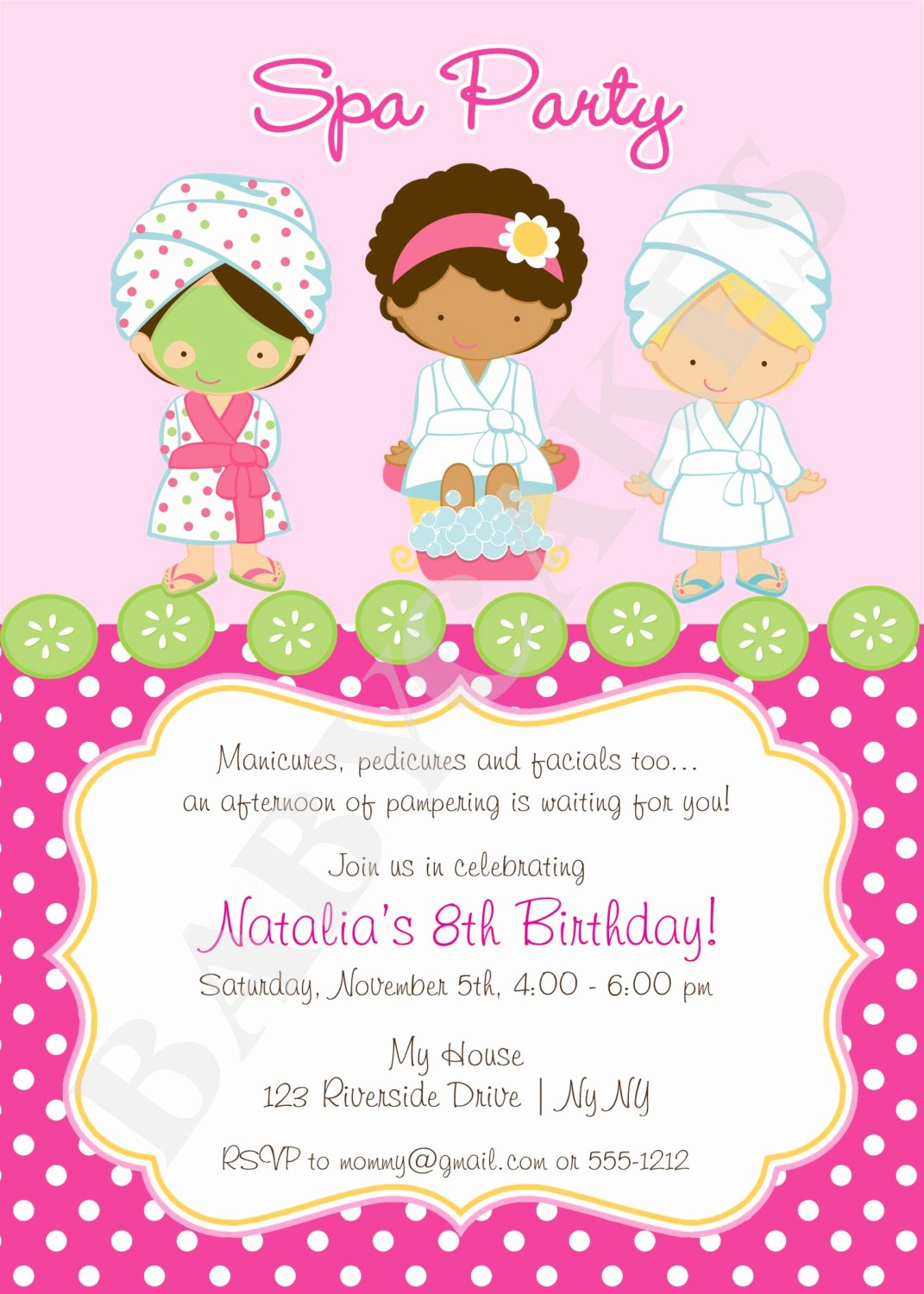 7 Fantastic Spa Party Invitations Free Printable