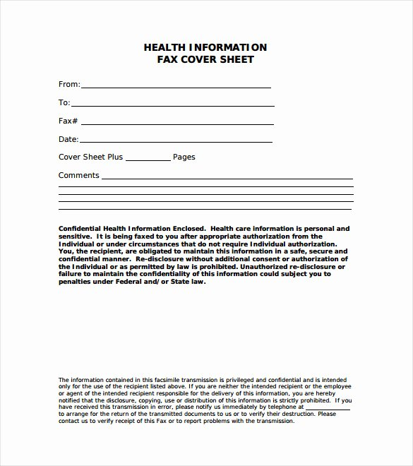 7 Fax Cover Letter Templates Free Sample Example