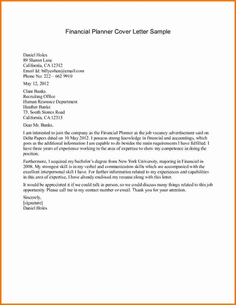7 Financial Analyst Cover Letter Sample