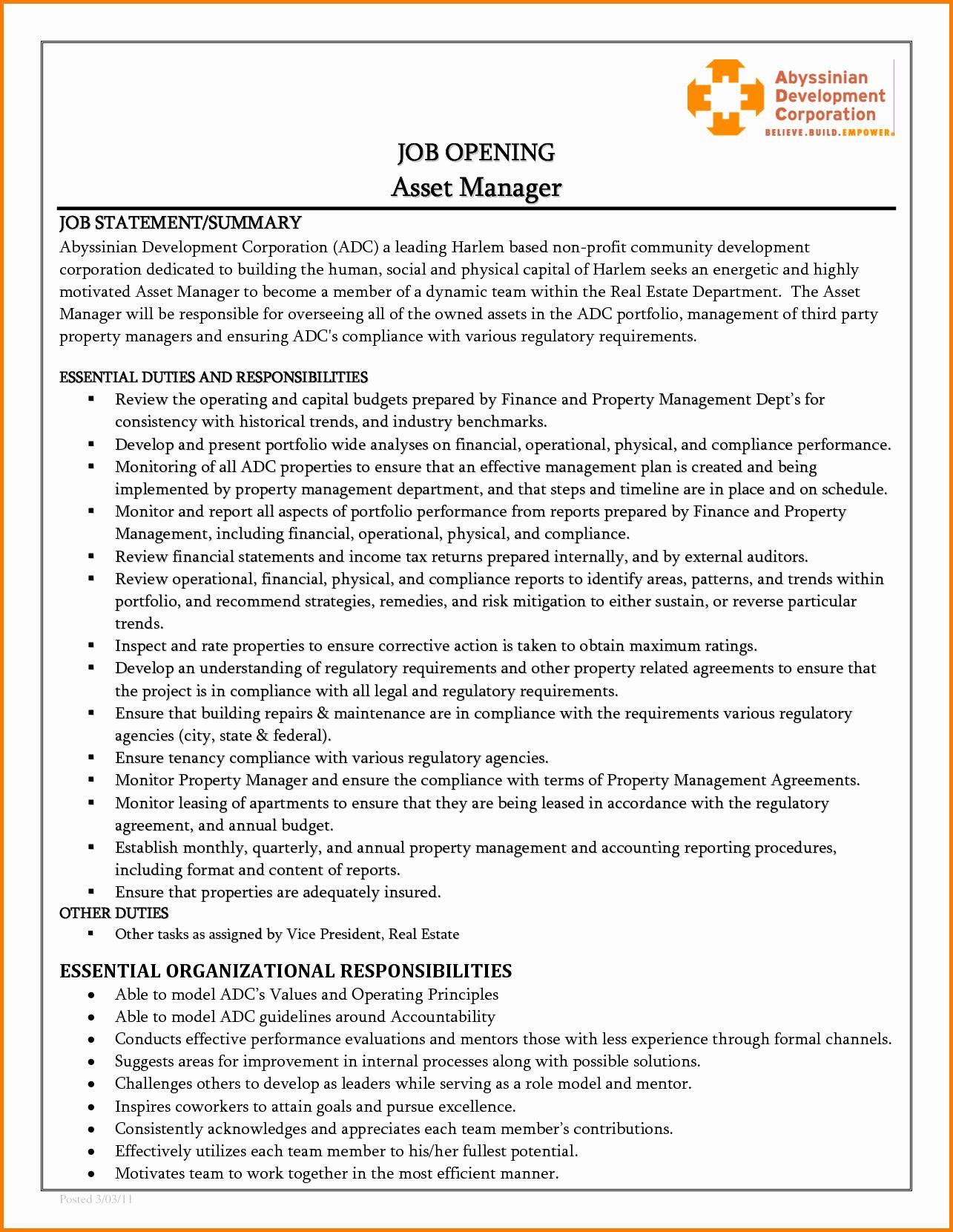 7 Financial Resume Statements