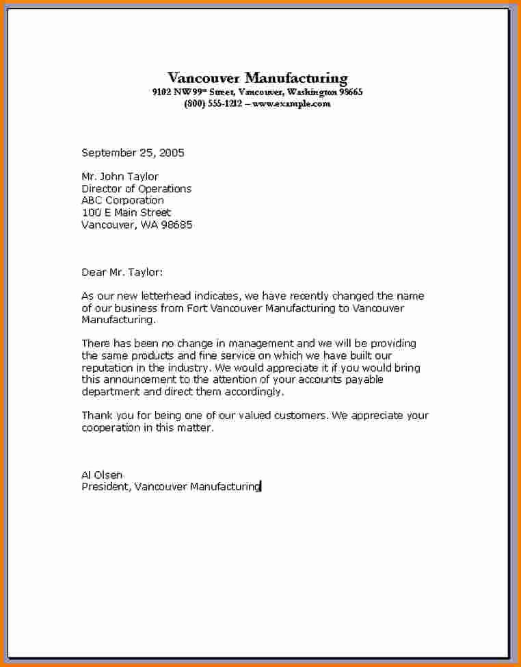 7 format Of A Standard Business Letter