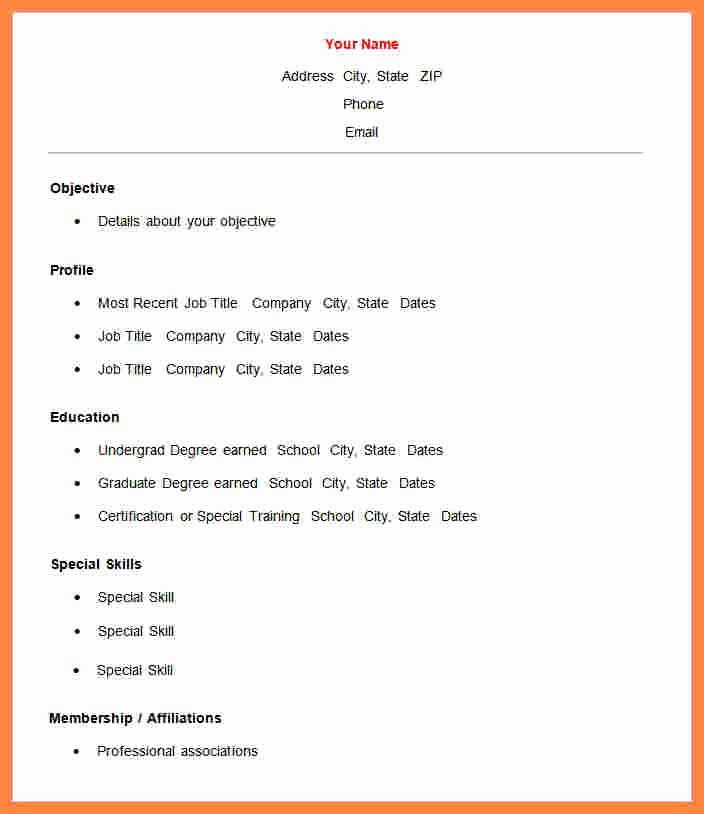 7 Free Basic Resume Templates Microsoft Word