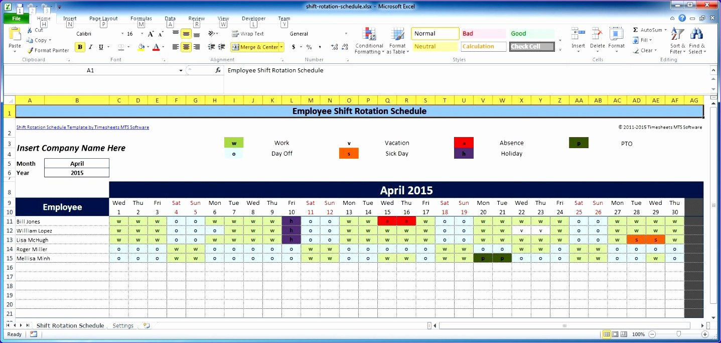 7 Free Excel Timesheet Template Multiple Employees