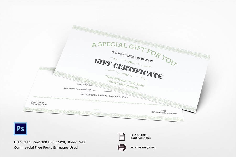 7 Free Gift Certificate Templates Birthday Business