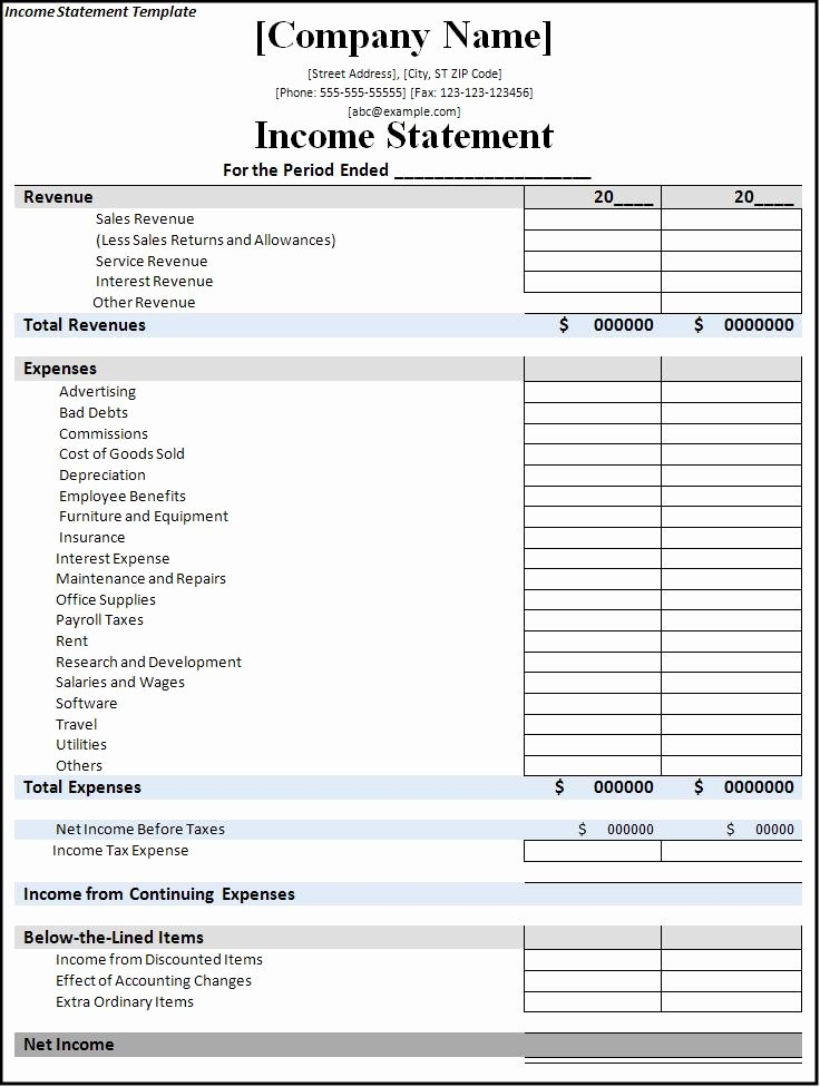 7 Free In E Statement Templates Excel Pdf formats