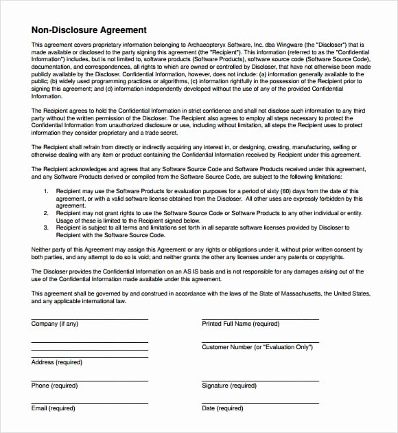 7 Free Non Disclosure Agreement Templates Excel Pdf formats
