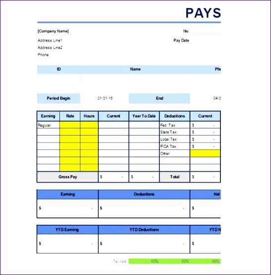 7 Free Paystub Template Excel Exceltemplates