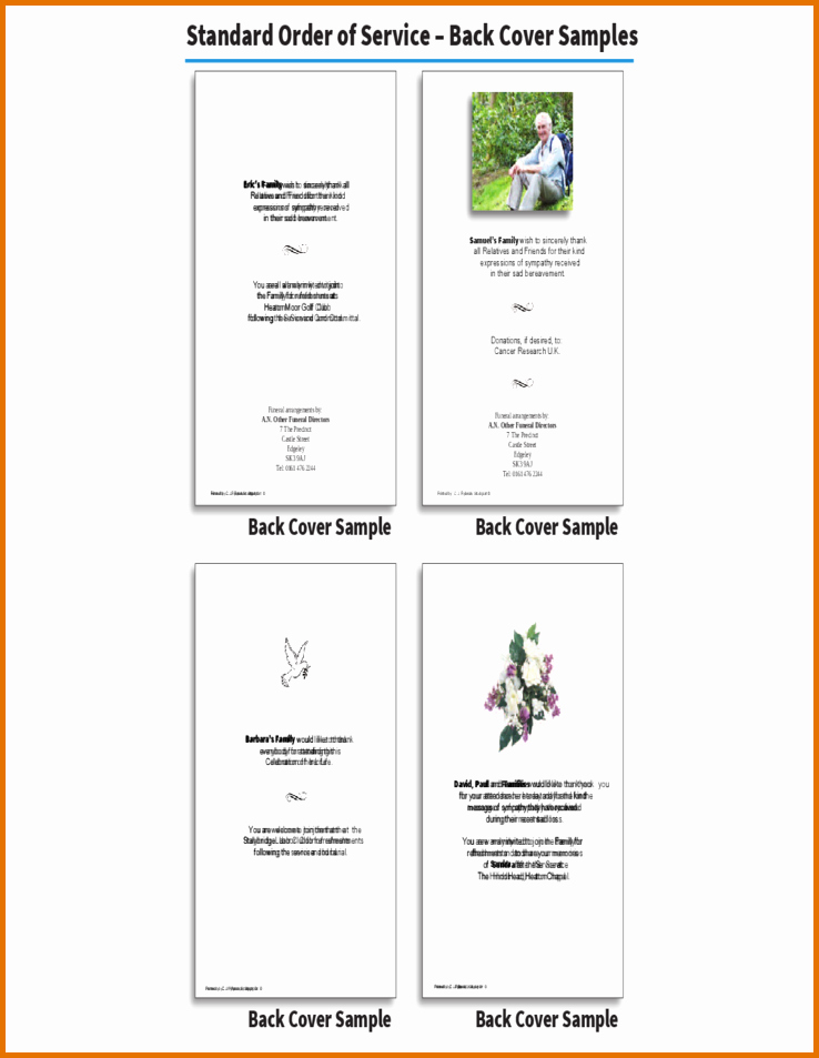 7 Funeral order Of Service Templatereference Letters