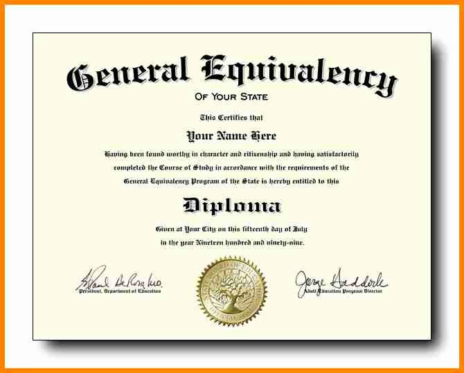 7 Ged Certificate Template