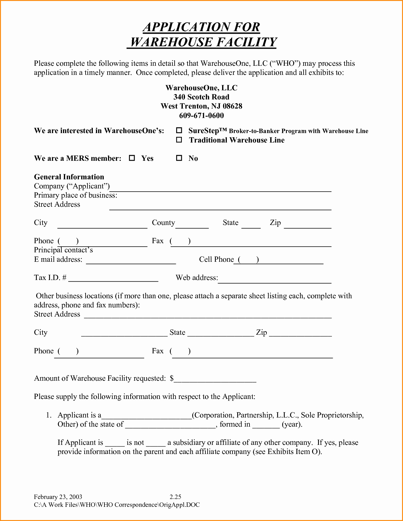 7 General Job Application Printable