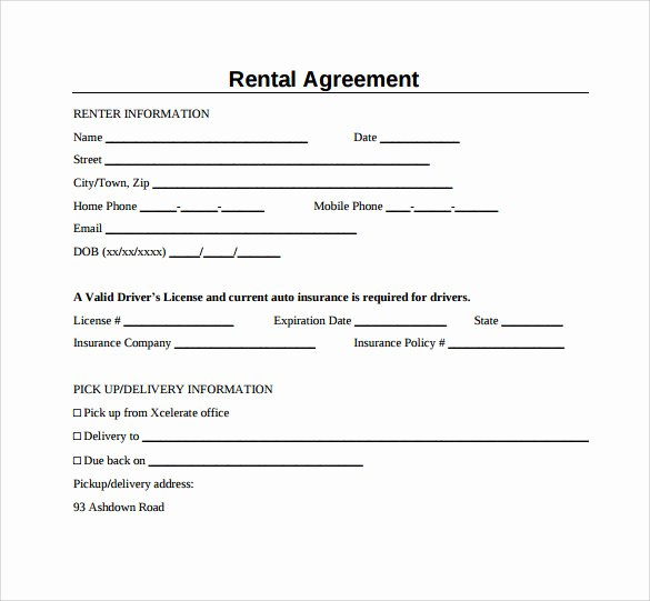 7 Generic Rental Agreement Templates to Download