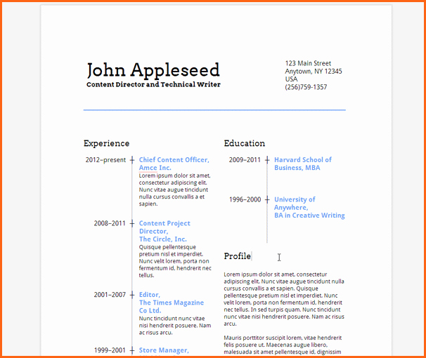 7 Google Docs Resume Template Bud Template Letter
