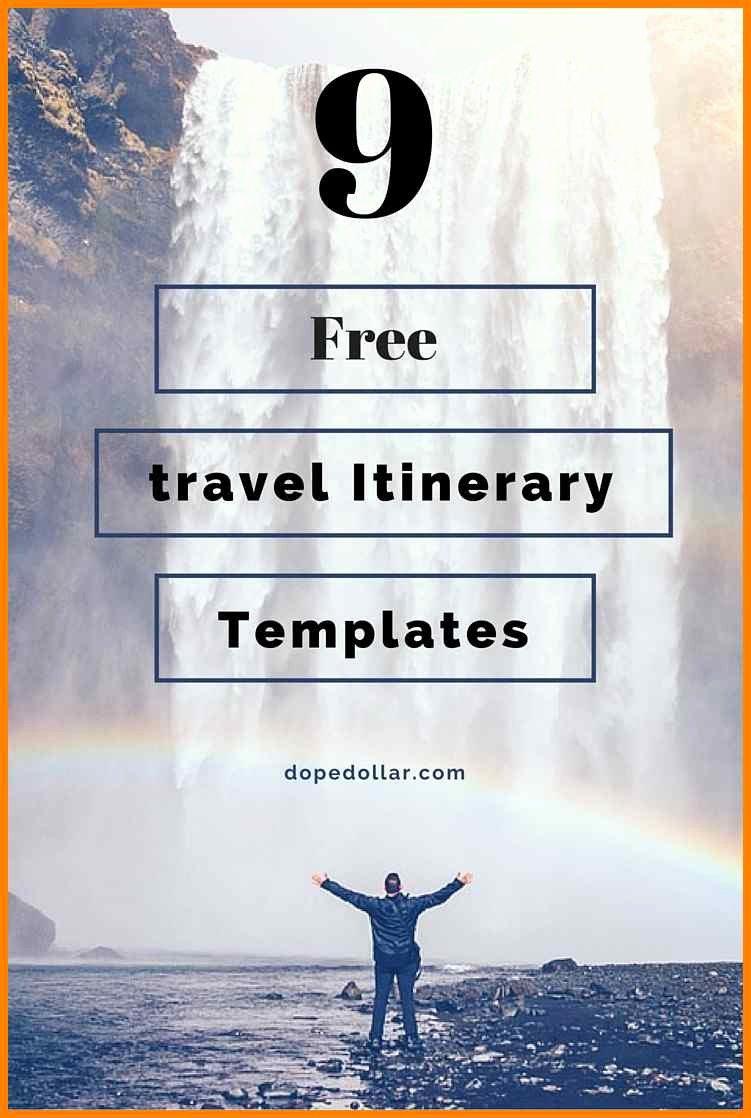 7 Google Docs Travel Itinerary Template