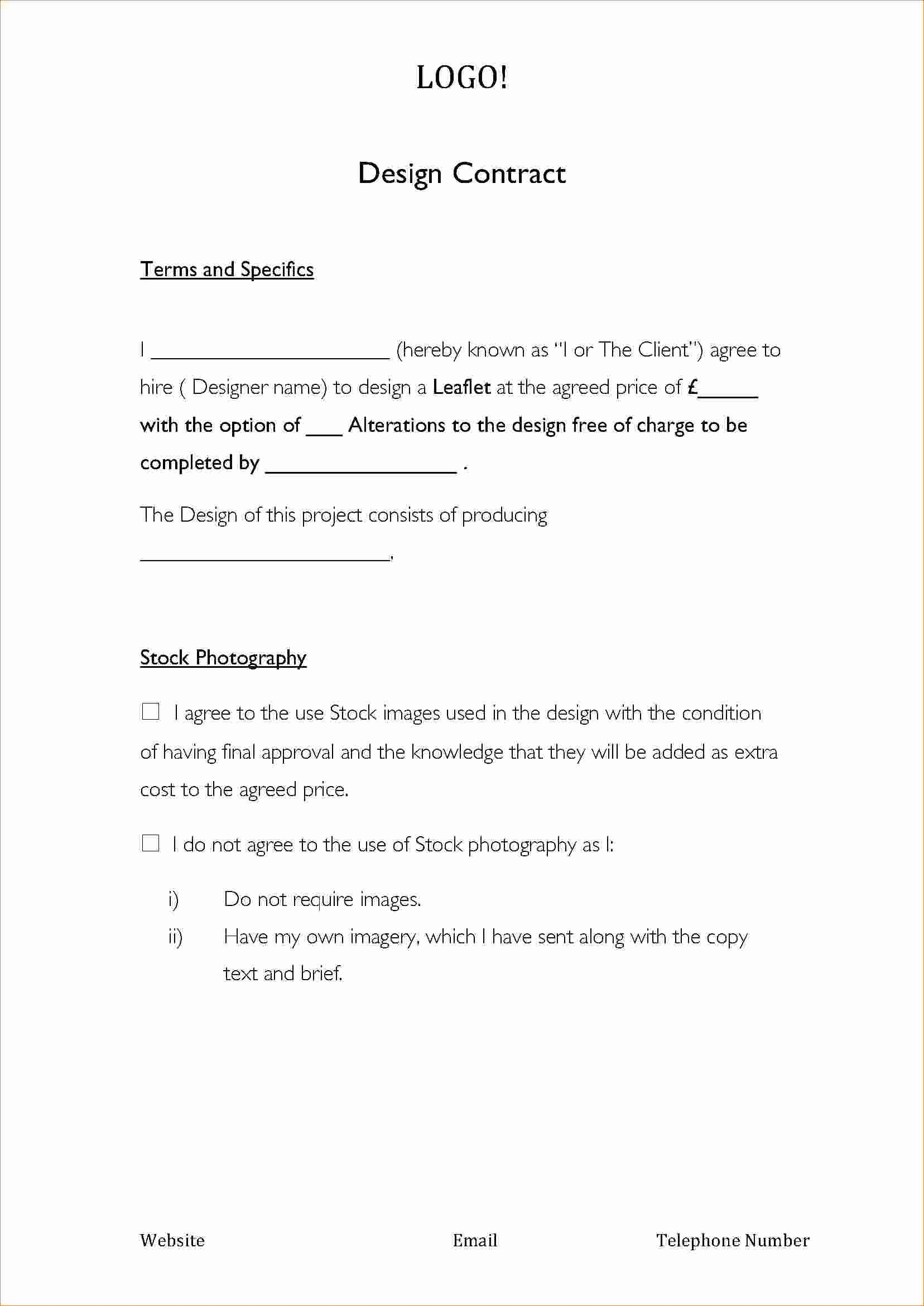 7 Graphic Design Contract Template