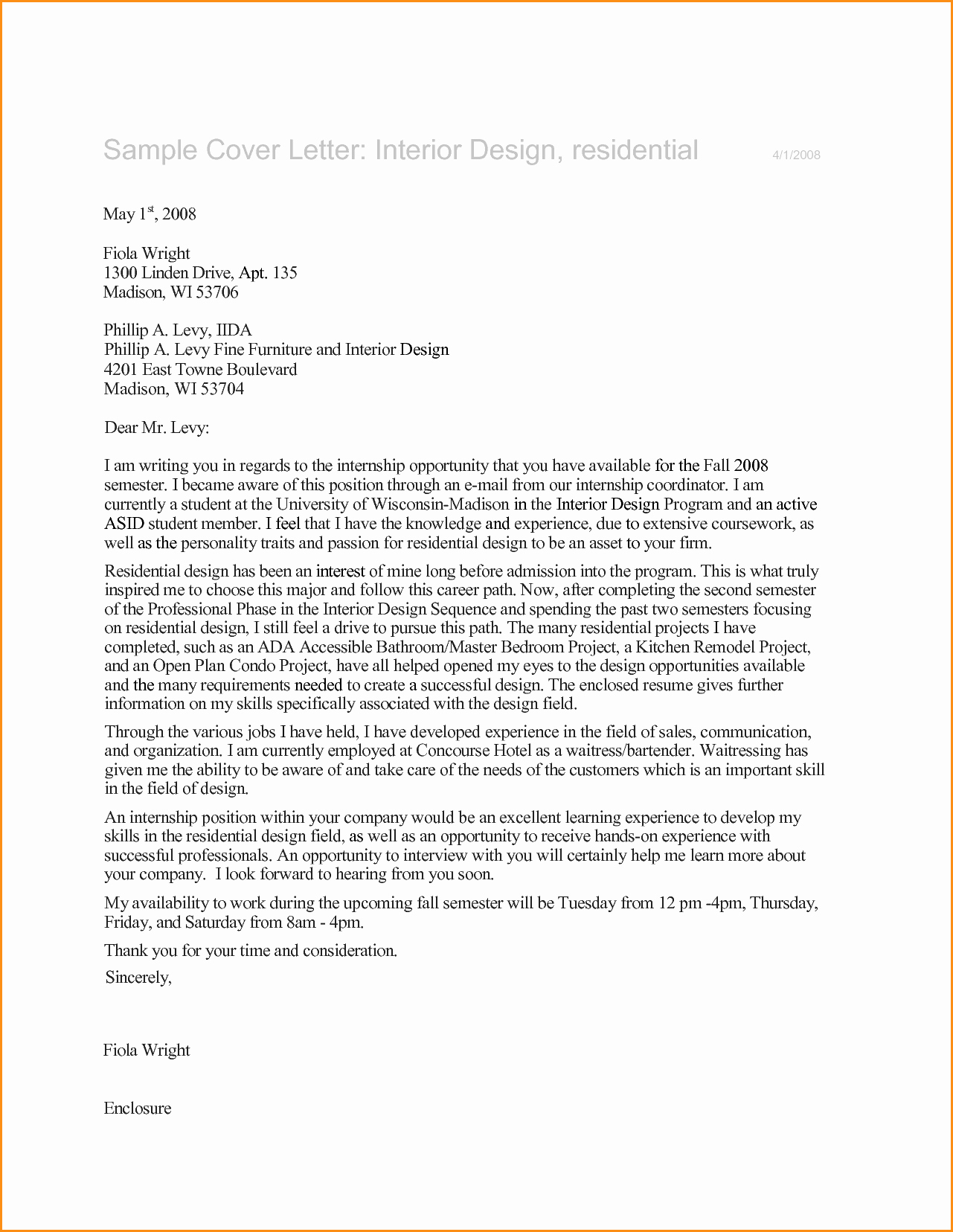 7 Graphic Design Internship Cover Letter