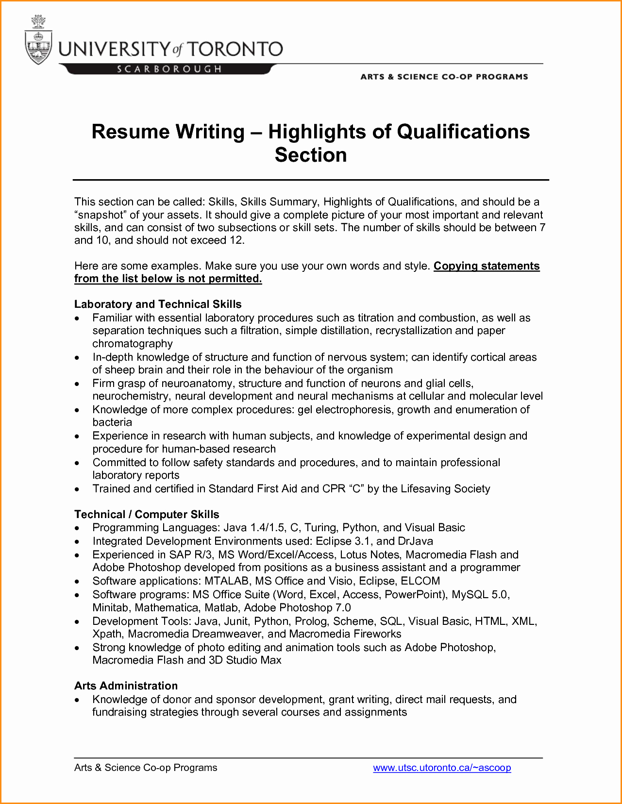 7 Highlights In A Resume