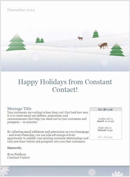 7 Holiday Email Templates for Small Businesses & Nonprofits
