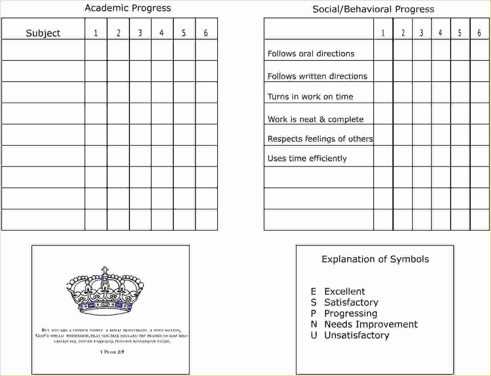 7 Homeschool Report Card Templatereport Template Document