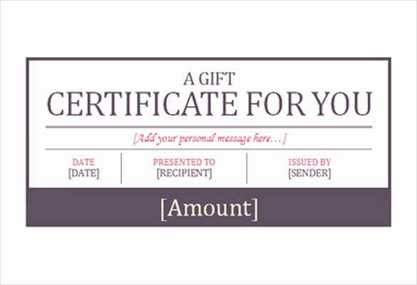 7 Hotel Gift Certificate Templates Free Sample Example