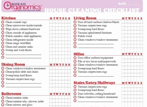7 House Cleaning List Templates Excel Pdf formats