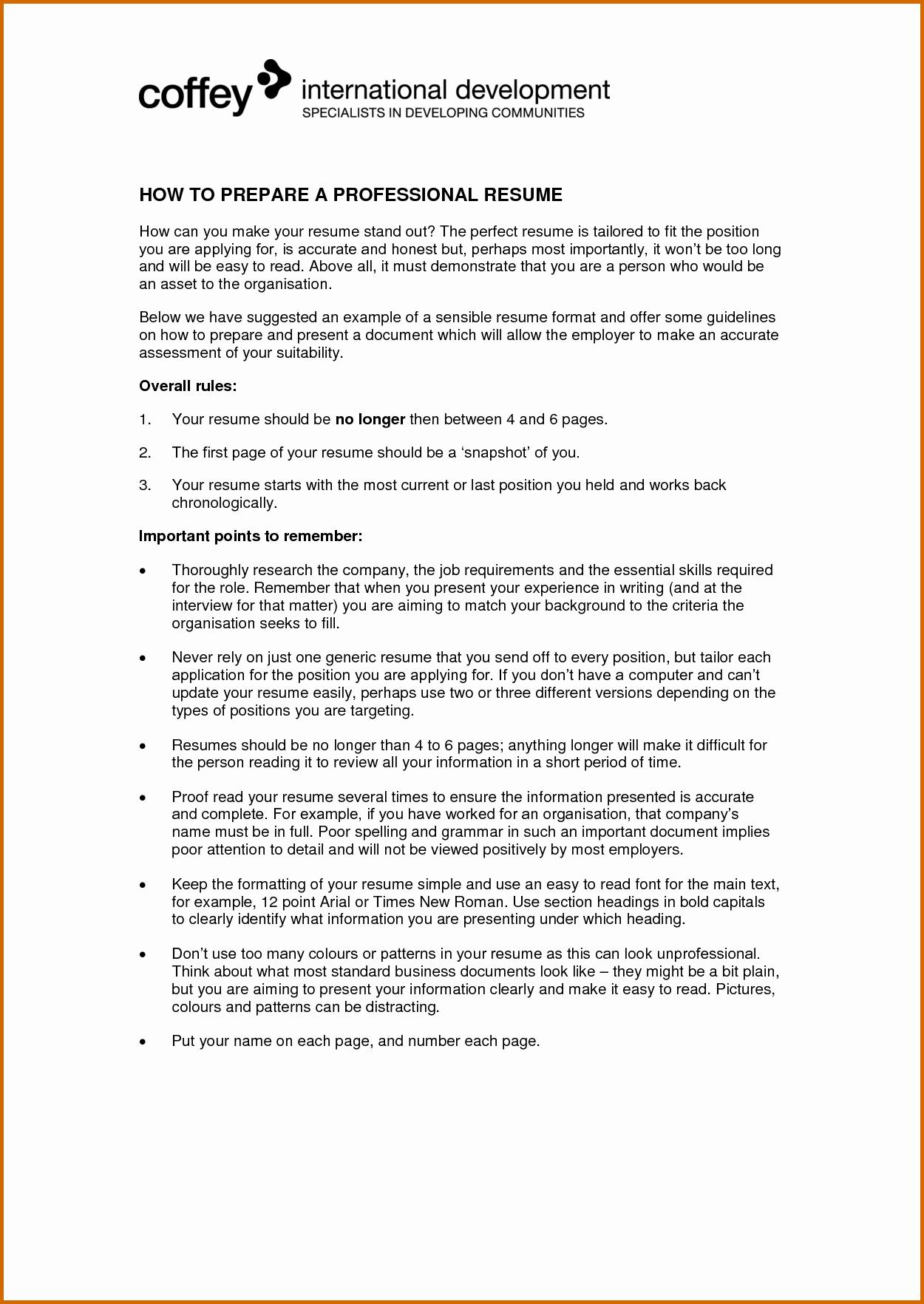7 How to Prepare Resume