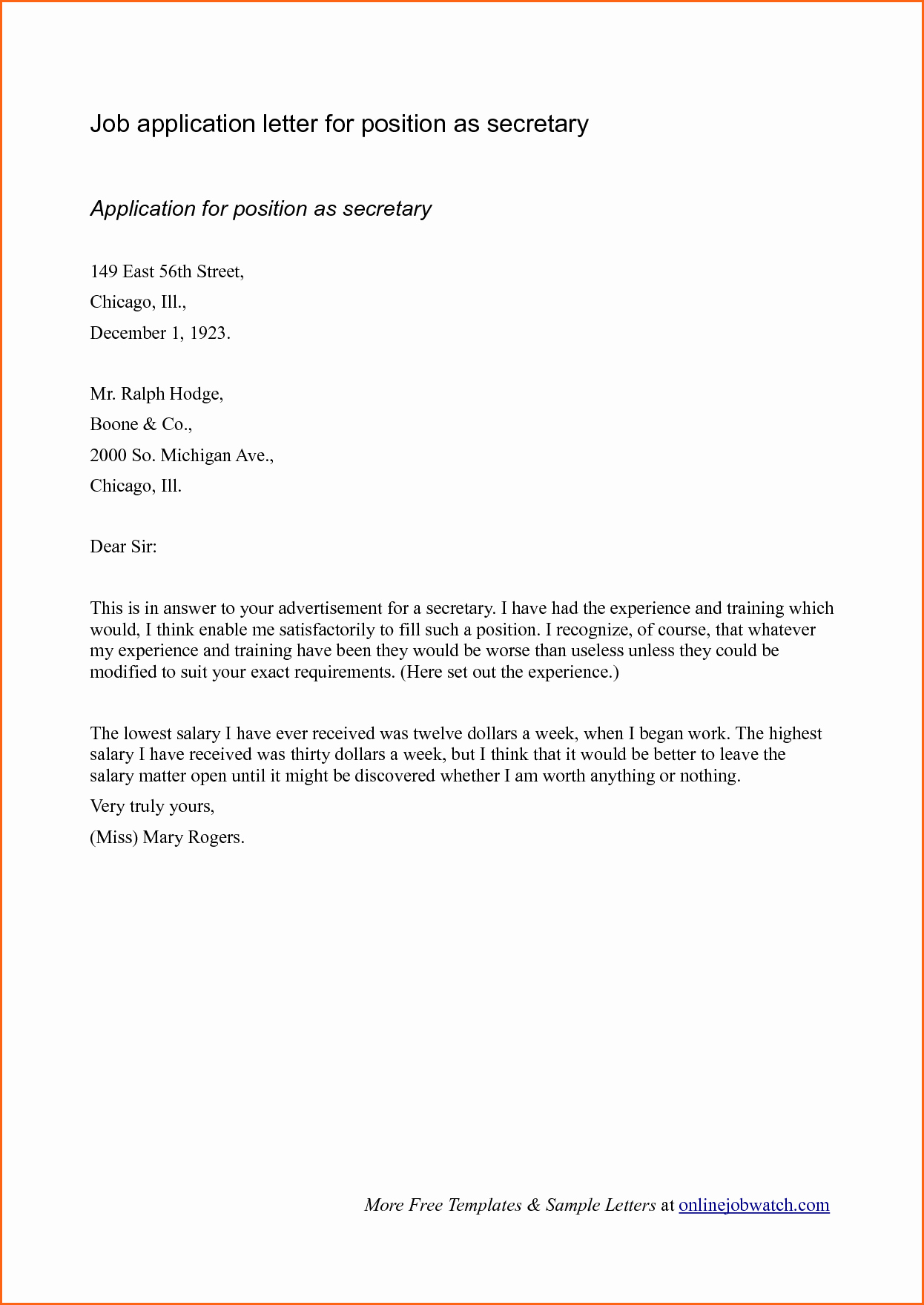 7 How to Write Application Letter for Teaching Job