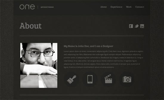 7 css personal website templates